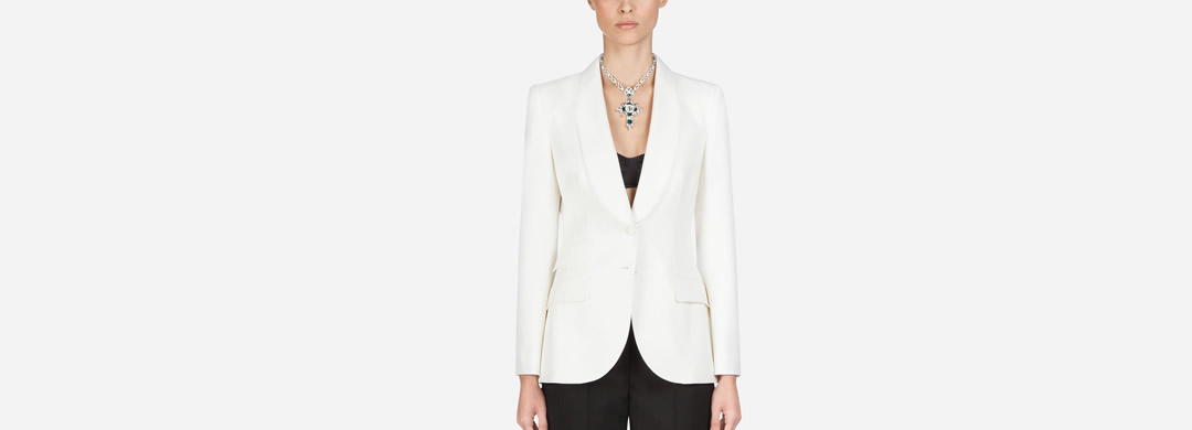 BLAZER IN STRETCH WOOL