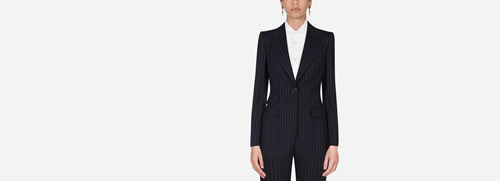 Pin-Stripe Wool Blazer
