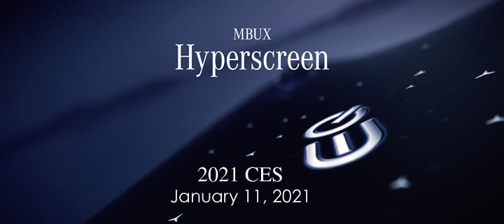 Mercedes-Benz to Showcase MBUX Hyperscreen During CES on January 11, 2021