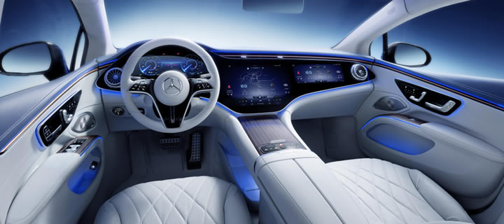 Mercedes-Benz Showcases Interior of EQS - Packed with Tech, Not As Much Luxury