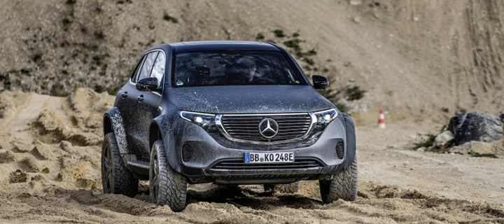 Mercedes-Benz Experiments Off-road Luxury EV with the EQC